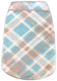Blue & Grey Plaid Blanket Fleece Pullover