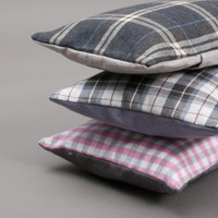 Louisdog Egyptian Cotton Check Pillow
