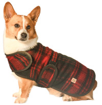Red Plaid Blanket Coat