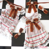 Wooflink Plaid Mini Dress