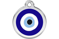Evil Eye Stainless Steel Enamel ID Tag
