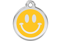Smiley Face Stainless Steel Enamel ID Tag