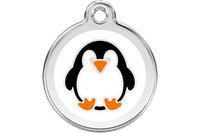 Penguin Stainless Steel Enamel ID Tag