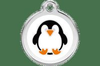 Penguin Stainless Steel Enamel ID Tag