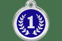 Winner Stainless Steel Enamel ID Tag