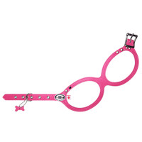 Buddy Belt Pebble Grain Dog Harness - Hot Pink