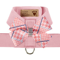 Susan Lanci Peaches N' Cream Glen Houndstooth Nouveau Bow Tinkie Harness