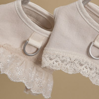 Louisdog Ecru Linen Harness Set