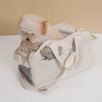 Louisdog Ecru Linen Tote Bag