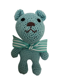 Sniffany Blue Bear Organic Cotton Bear Toy