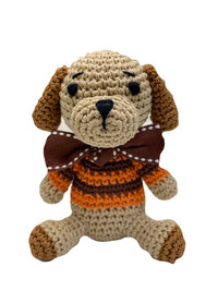 Hairmes Happy Dog Orange Organic Cotton Toy