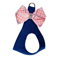 Susan Lanci Peaches N' Cream Glen Houndstooth Nouveau Bow Step In Harness