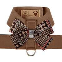 Susan Lanci Chocolate Glen Houndtooth Nouveau Bow Tinkie Harness