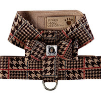 Susan Lanci Chocolate Glen Houndtooth Big Bow Tinkie Harness