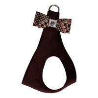 Susan Lanci Chocolate Glen Houndstooth Big Bow Step In Harness