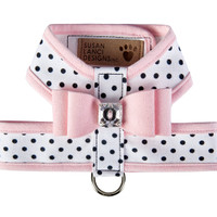 Susan Lanci Polka Dot Big Bow Tinkie Harness with Trim