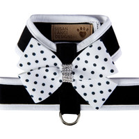 Susan Lanci Polka Dot Nouveau Bow Tinkie Harness with Trim