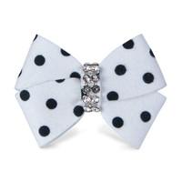 Susan Lanci Black and White Polkadot Nouveau Bow Hair Bow