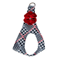 Susan Lanci Classic Glen Houndstooth Red Tinkie's Garden Flower Step In Harness