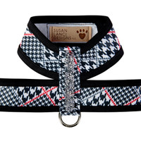 Susan Lanci Classic Glen Houndstooth Crystal Rocks Tinkie Harness with Trim