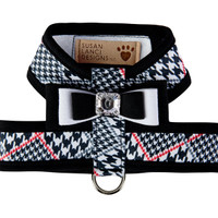 Susan Lanci Classic Glen Houndstooth Tinkie Harness with Really Big Bow and Trim