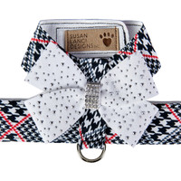 Susan Lanci Classic Glen Houndstooth Srtardust Nouveau Bow Tinkie Harness