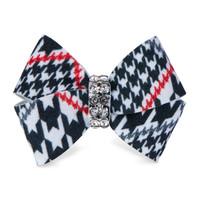 Susan Lanci Classic Glen Houndstooth Nouveau Bow Hair Bow