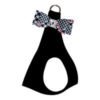 Susan Lanci Classic Glen Houndstooth Big Bow Step In Harness