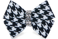 Susan Lanci Black & White Houndstooth Nouveau Bow Hair Bow