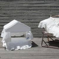 Louisdog Peekaboo White Cabana House