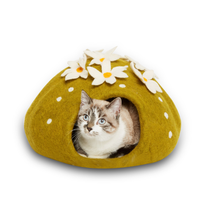 Cactus Felted Cat Cave