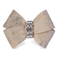 Susan Lanci Champagne Glitzerati Nouveau Bow Hair Bow