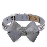 Susan Lanci Platinum Glitzerati Nouveau Bow 3 Row Giltmore Collar