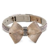 Susan Lanci Champagne Glitzerati Nouveau Bow 3 Row Giltmore Collar