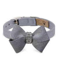 Susan Lanci Platinum Glitzerati Nouveau Bow Collar