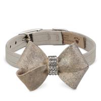 Susan Lanci Champagne Glitzerati Nouveau Bow Collar
