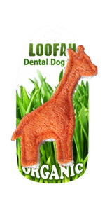 Organic Giraffe Dental Loofah Toy