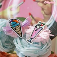 Wooflink Milkshake & Ice Cream Hairbow