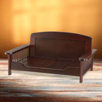 Elegant Wooden Pet Bed
