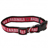Arizona Cardinals Ribbon Dog Collar