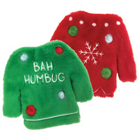 Fuzzy Stuffless Crinkle Ugly Sweater Toy