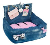 Pink Chanel Flap Bag Driving Kit Dog Car Seat