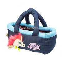 Neon Pink Hair Pony Basket Pet Carrier