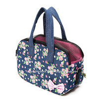 Dark Blue Primavera Zipper Pet Carrier