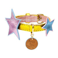 Metal Stars Dog Collar