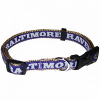 Balitmore Ravens Ribbon Dog Collar