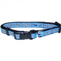Carolina Panthers Ribbon Dog Collar