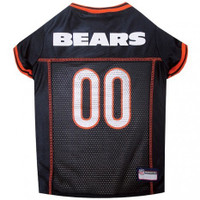 Chicago Bears Dog Jersey - Orange Trim