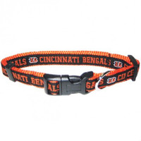 Cincinnati Bengals Ribbon Dog Collar