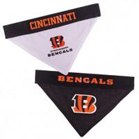 Cincinnati Bengals Reversible Mesh Dog Bandana